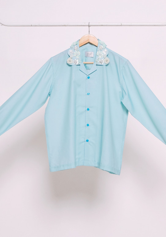 MINT EMBELLISHED LONG SLEEVE SHIRT